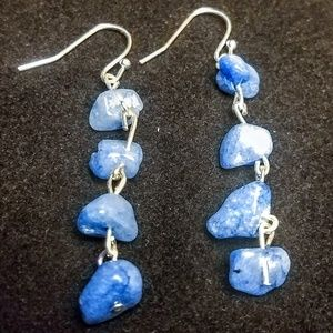 Jewelry - Blue lace agate earrings